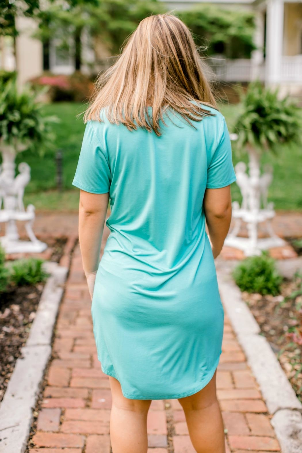 Another Love Seaglass Tshirt Dress - Front Full Image