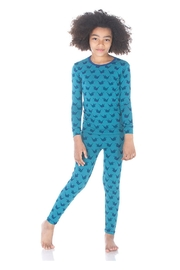 Kickee Pants Seagrass Origami Pajamas - Front full body