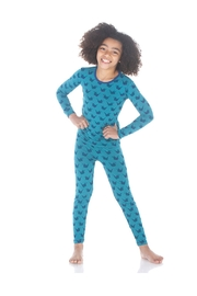 Kickee Pants Seagrass Origami Pajamas - Front cropped
