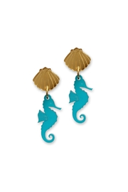 Little Moose Seahorse Dangly Earrings - Product Mini Image