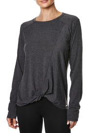 Betsey Johnson Seamed Knot Front L/S Tee - Product Mini Image