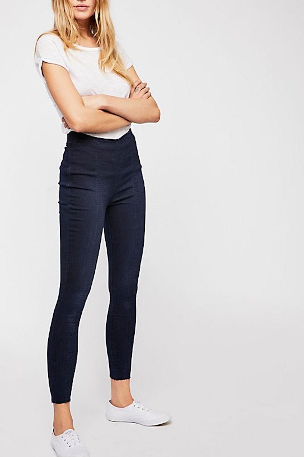 Free People Seamed Skinny Jean - Front Cropped Image