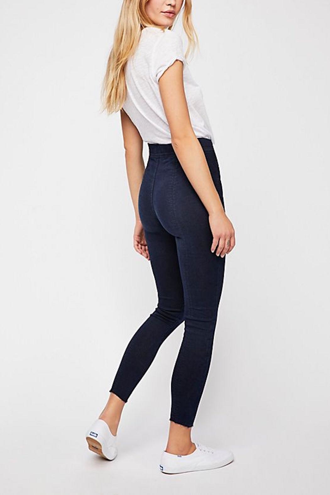 Free People Seamed Skinny Jean - Side Cropped Image