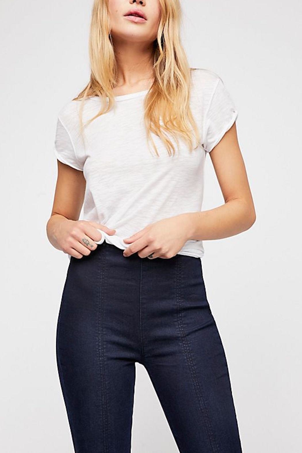 Free People Seamed Skinny Jean - Front Full Image