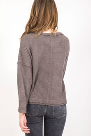 Very J Seamed Waffle Pullover - Side cropped