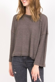 Very J Seamed Waffle Pullover - Product Mini Image