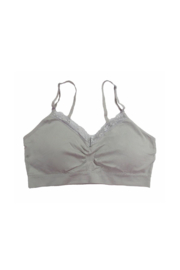 Coobie Seamless Bra w/ Lace - Front cropped