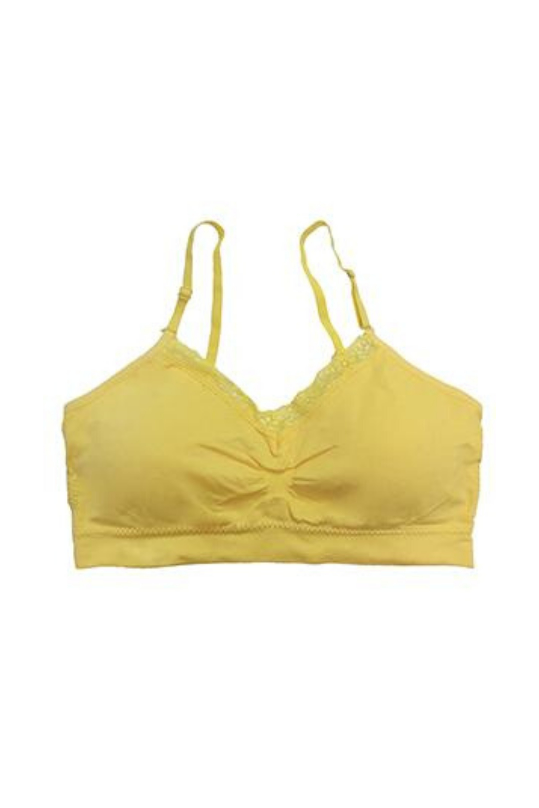 Coobie Seamless Bra w/ Lace - Front Cropped Image