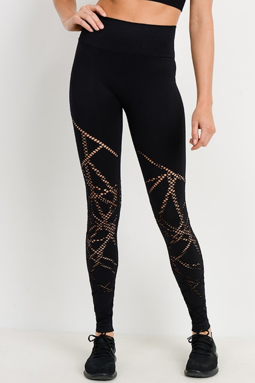 Mono B Seamless Perforated Legging - Front Cropped Image