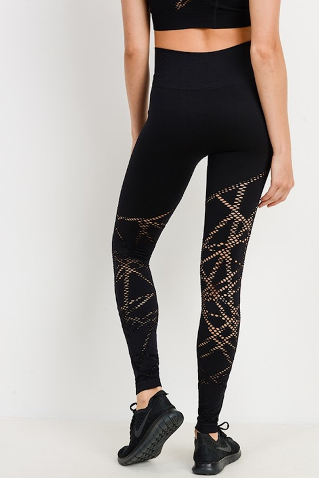 Mono B Seamless Perforated Legging - Side Cropped Image