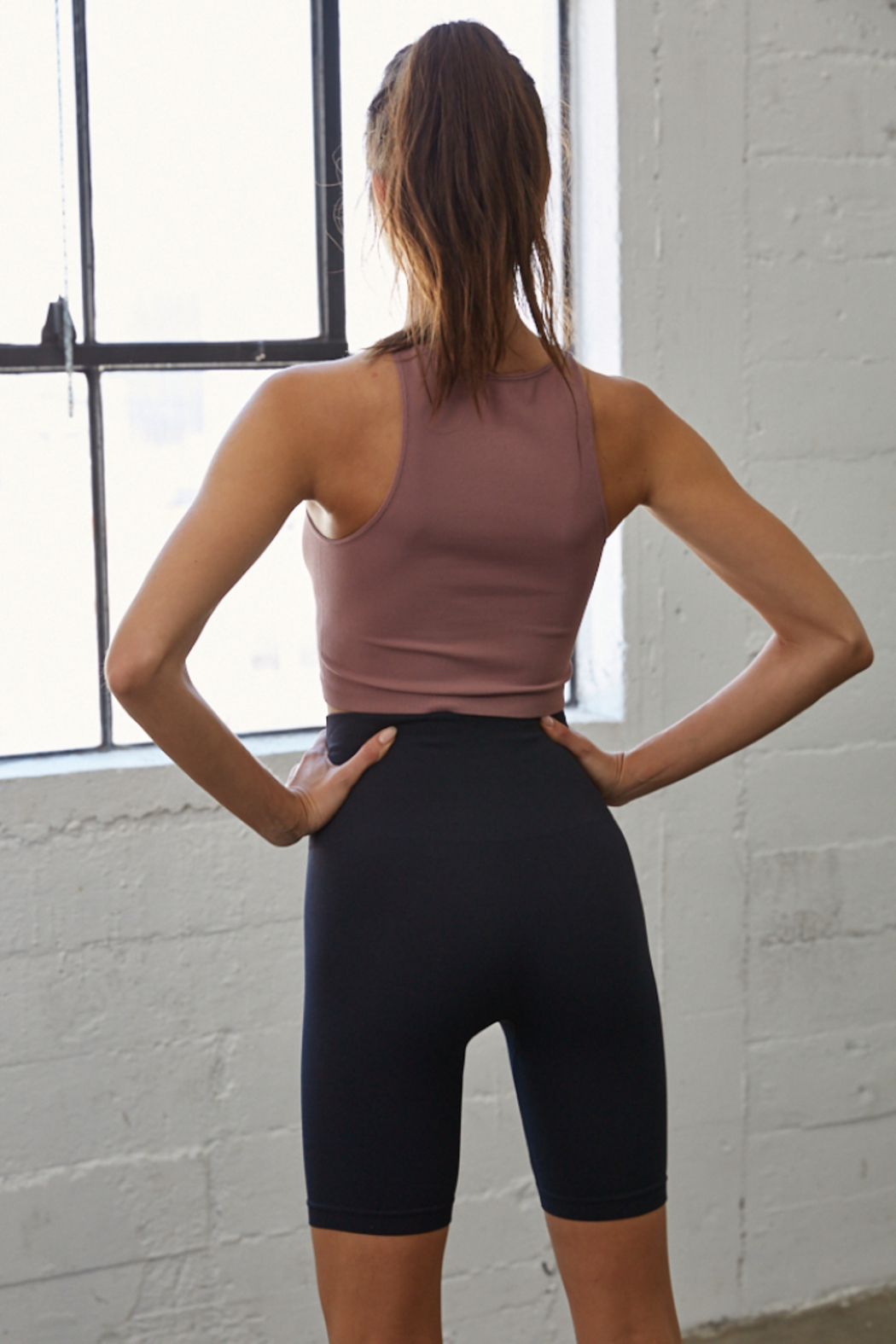 By Together  Seamless Ribbed Crew Tank - Front Full Image