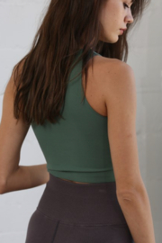 By Together  Seamless Ribbed Crew Tank - Front full body