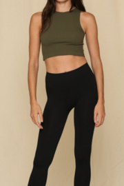 By Together  Seamless Ribbed Crew Tank - Front cropped