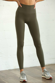 S1024 Seamless Ribbed Leggings - Front cropped