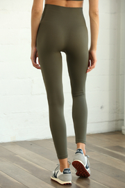 S1024 Seamless Ribbed Leggings - Front full body