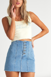 Billabong Seams Like Indigo Denim Skirt - Product Mini Image