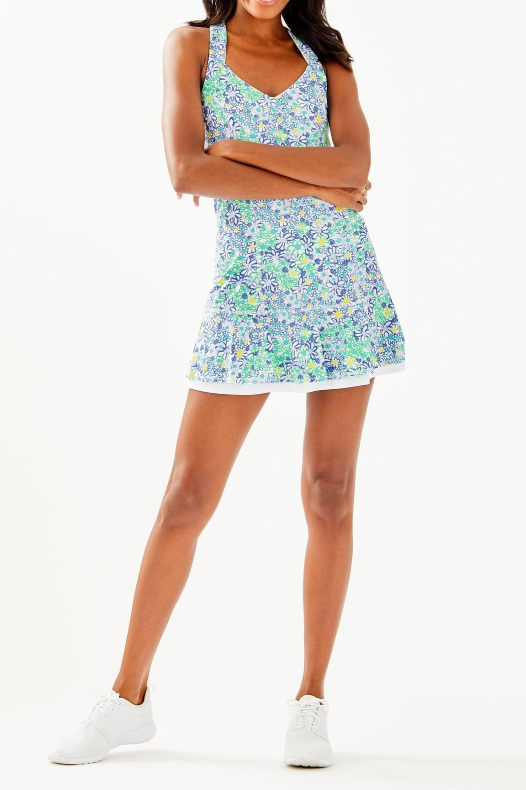Lilly Pulitzer Sean Tennis Dress - Back Cropped Image