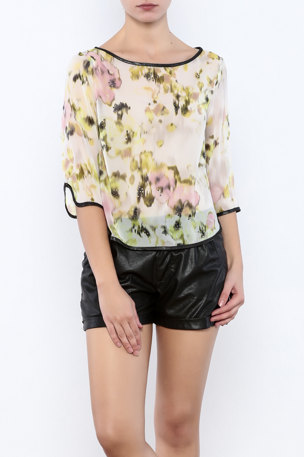 Search for Sanity Floral Sheer Top - Main Image