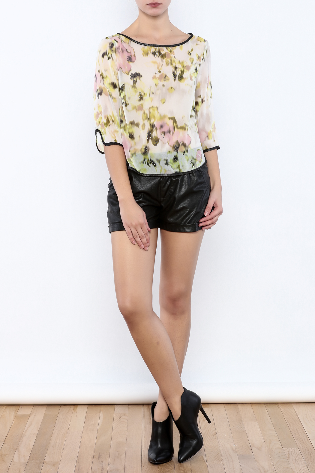 Search for Sanity Floral Sheer Top - Front Full Image