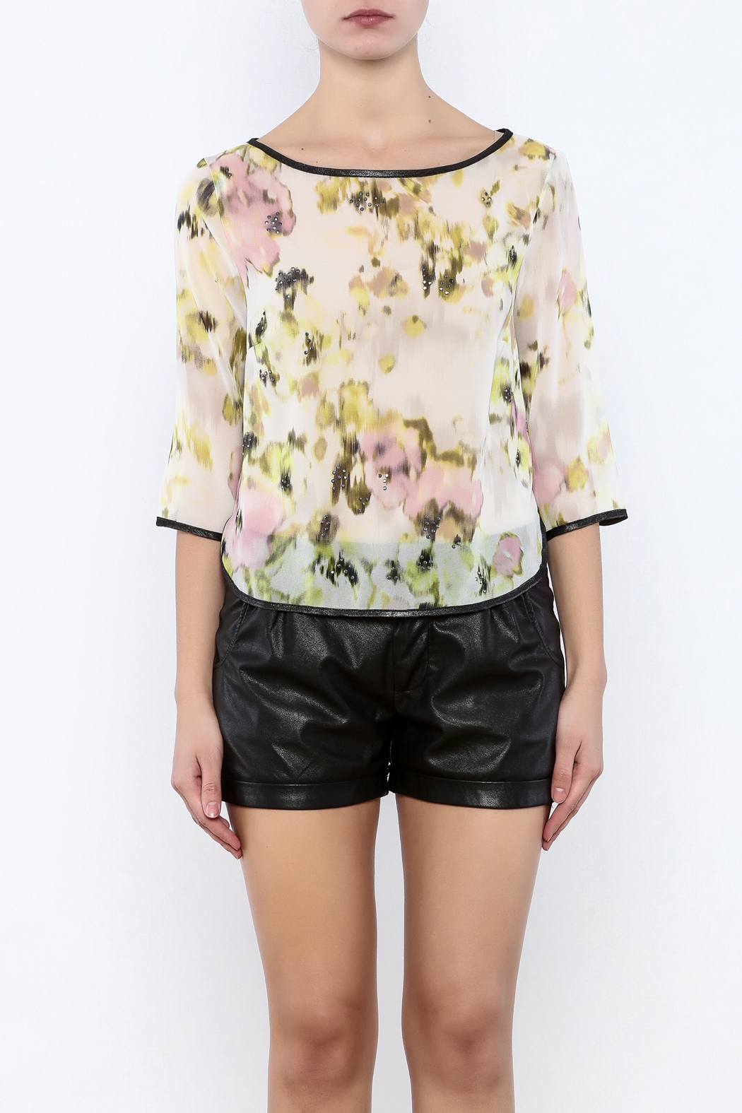 Search for Sanity Floral Sheer Top - Side Cropped Image