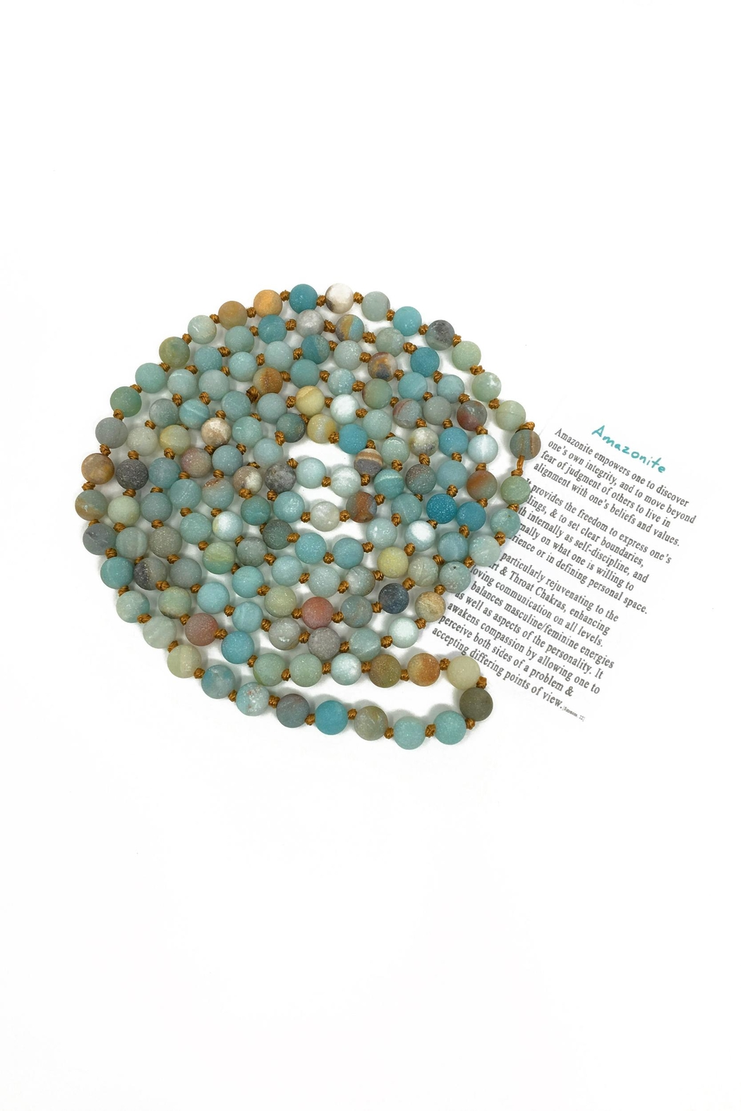 Searenity Amazonite Necklace - Front Full Image