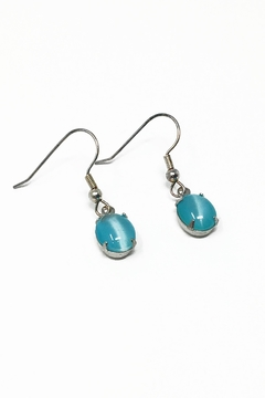 Shoptiques Product: Aqua Seadrop Earrings