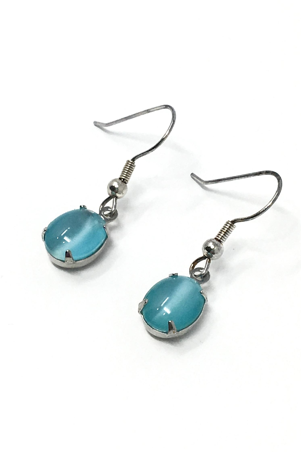Searenity Aqua Seadrop Earrings - Front Cropped Image