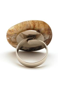 Searenity Aqua Shell Ring - Alternate List Image