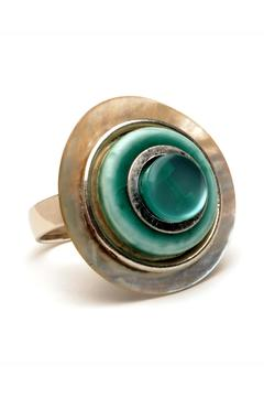 Searenity Aqua Shell Ring - Product List Image