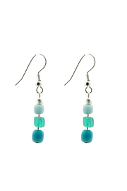 Searenity Pebble And Glass Earrings - Product Mini Image