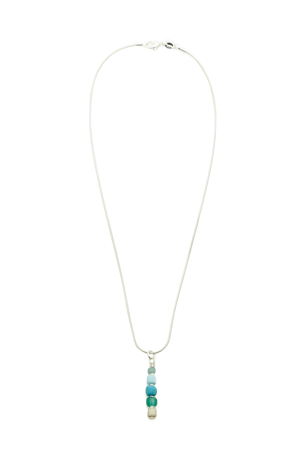 Searenity Pebble And Glass Necklace - Main Image