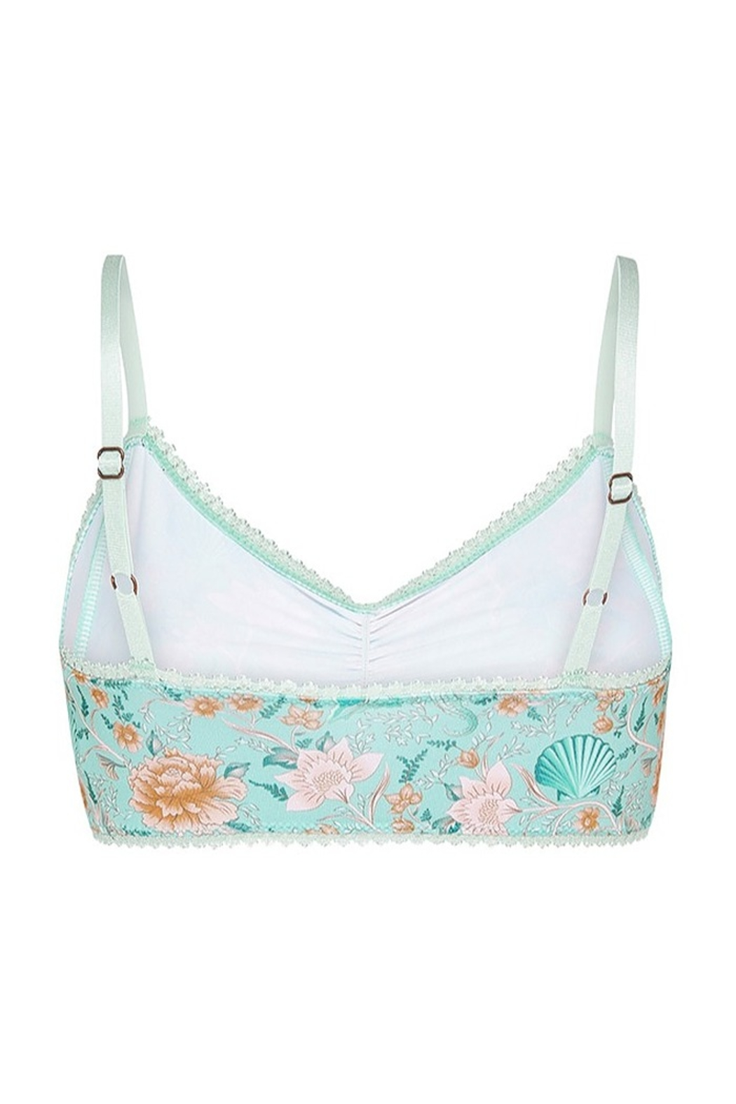 Spell & the Gypsy Collective Seashell Bralette - Seafoam - Side Cropped Image