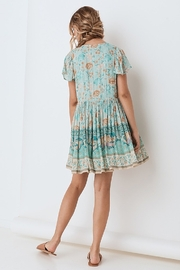 Spell & the Gypsy Collective Seashell Mini Dress - Seafoam - Back cropped