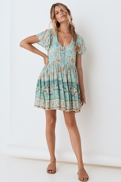 Spell & the Gypsy Collective Seashell Mini Dress - Seafoam - Product List Image