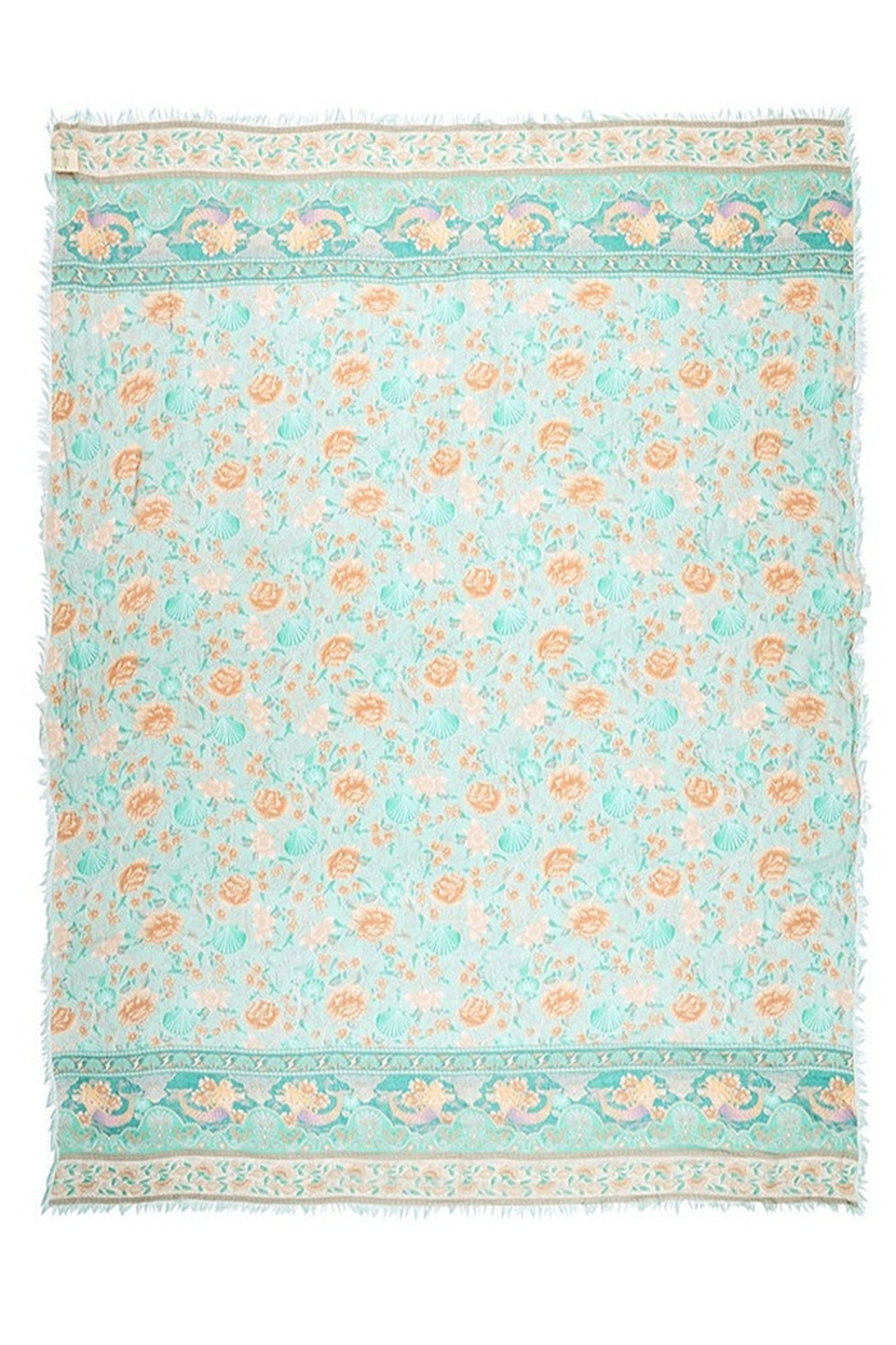Spell & the Gypsy Collective Seashell Travel Scarf in Seafoam - Side Cropped Image