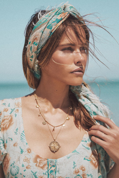 Spell & the Gypsy Collective Seashell Travel Scarf in Seafoam - Product List Image