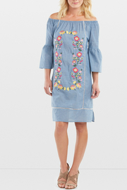 Coco + Carmen Seaside Embroidered Dress - Product Mini Image