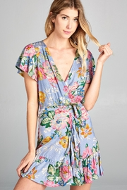 Racine Seaside Print Minidress - Product Mini Image