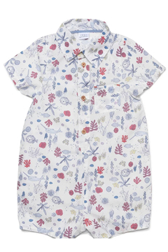 Egg  by Susan Lazar Seaside Print Oscar Romper - Product List Image