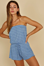 blue blush Seaside Romper - Front cropped