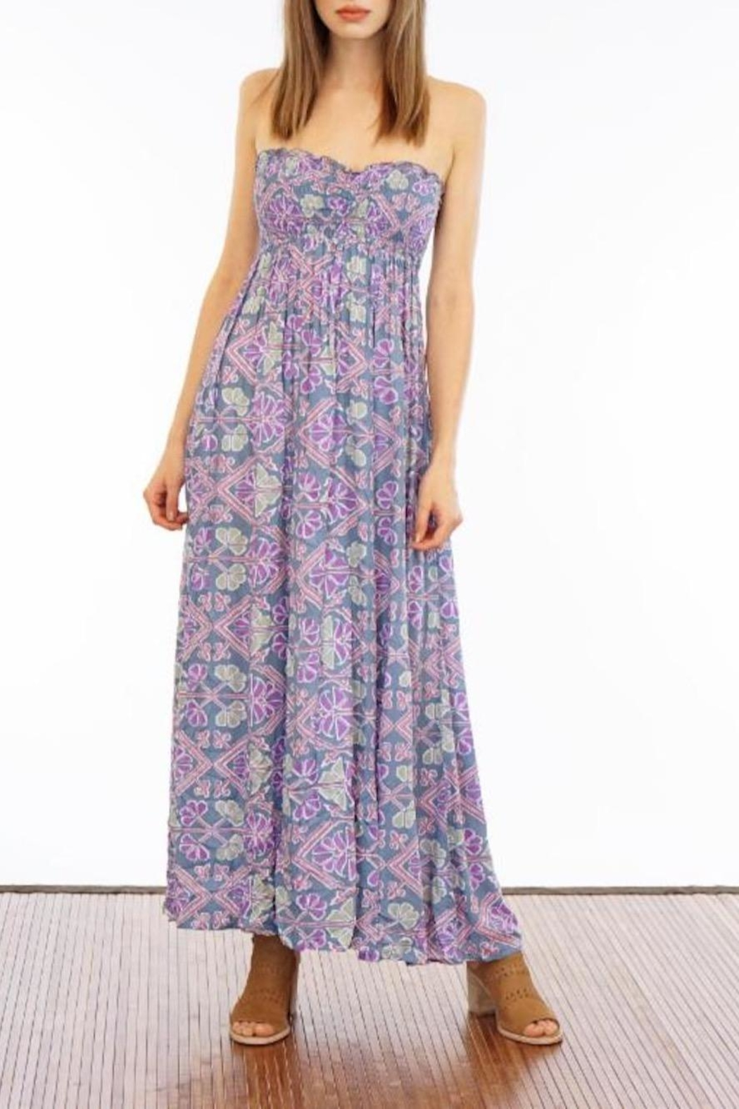 Tiare Hawaii Seaside Strapless Maxi - Front Cropped Image