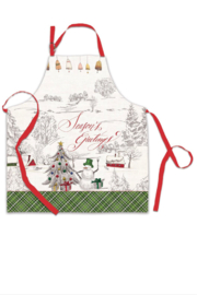 Michel Design Works Season's Greetings Adult Apron - Front cropped
