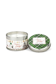Michel Design Works Seasons/greetings Tin Candle - Front cropped