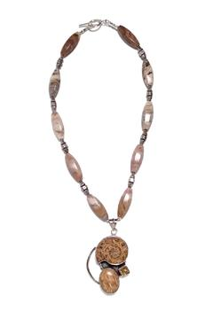 Seasons In Stone Ammonite Citrine Necklace - Alternate List Image