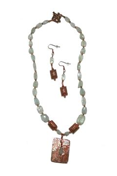 Seasons In Stone Aquamarine Copper Set - Alternate List Image