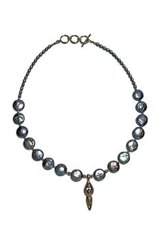 Seasons In Stone Blue Pearl Necklace - Alternate List Image