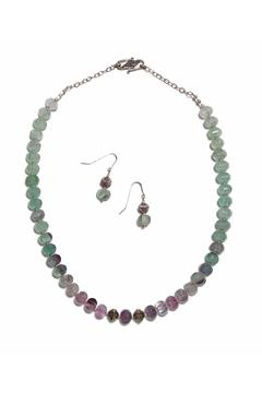 Seasons In Stone Fluorite Silver Set - Alternate List Image