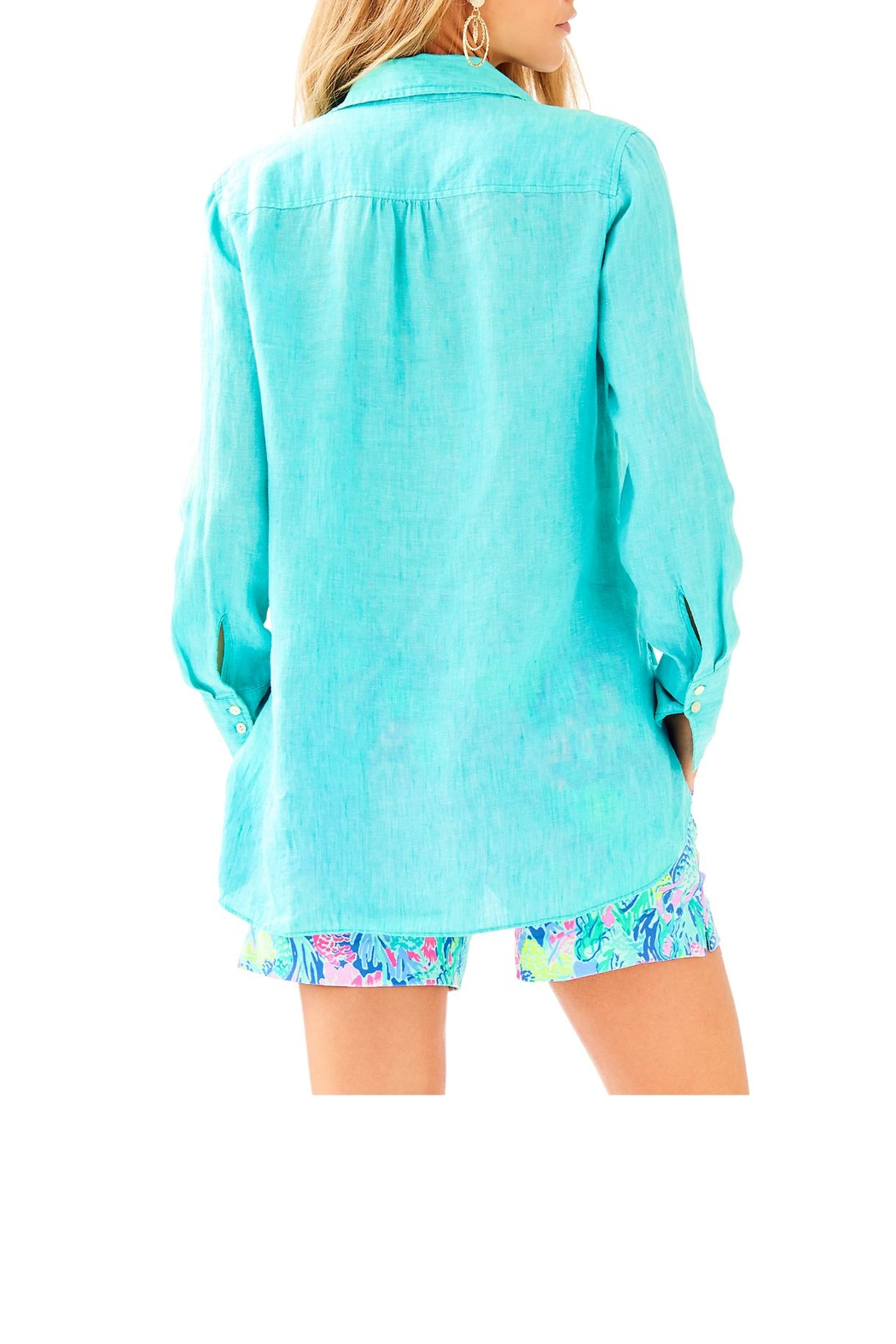 Lilly Pulitzer Seaview Button-Down Top - Front Full Image