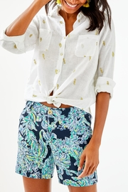 Lilly Pulitzer Seaview Button-Down Top - Front cropped