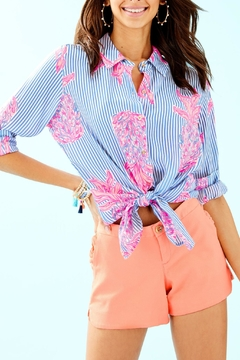 Lilly Pulitzer Seaview Button-Down Top - Product List Image